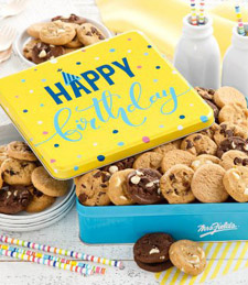 Birthday Balloons Tin with 60 Nibblers® Cookies