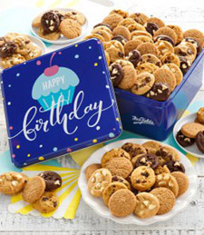 Birthday Balloons Tin with 112 Nibblers� Cookies