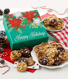HAPPY HOLIDAYS BITE-SIZED COOKIES BOX