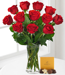 Red Rose Bouquet with Godiva� Chocolates