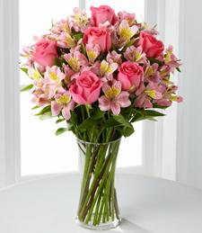Dreamland Pink Bouquet /Vase