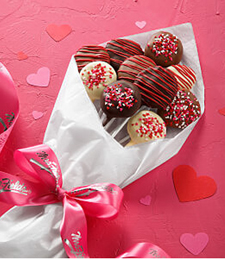 VALENTINE'S DAY BELGIAN CHOCOLATE-COVERED NIBBLER BOUQUET
