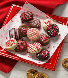 VALENTINE'S DAY 12 BELGIAN CHOCOLATE-COVERED NIBBLER COOKIES