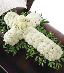 Cross My Heart Sympathy Wreath