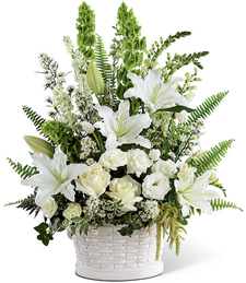 Billowing Lights Sympathy Basket