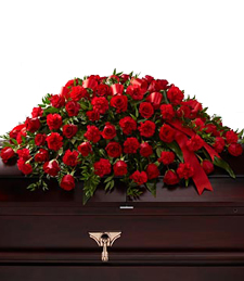 Striking Elegance Casket Spray
