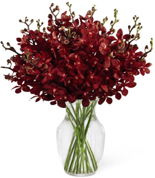 Burgundy Sunset Sympathy Arrangement