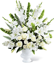 White Reminiscence Sympathy Arrangement