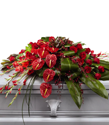 Magnificent Red Casket Spray