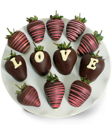 Chocolate Dip Delights� Love Berry Gram Belgian Chocolate Covered Strawberries - 12-piece