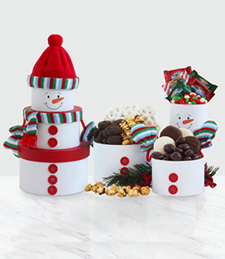Snowman Tower of Treats