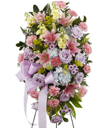 Pastel Commemoration Standing Spray