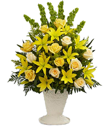 Golden Memories Sympathy Arrangement