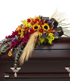A Ring of Fall Casket Spray