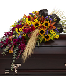 Glorious Autumn Casket Spray