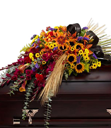 Glimpse of Fall Casket Spray