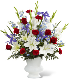 Stand and Salute Sympathy Bouquet