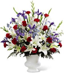 A Patriotic Stance Sympathy Bouquet