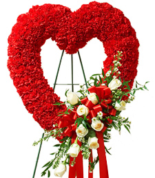 A Genuine Heart Standing Wreath