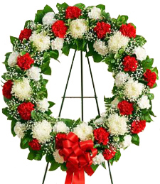 Blossoms of Eternity Standing Wreath
