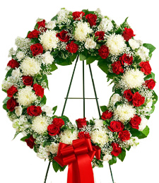Peaceful Eternity Standing Wreath