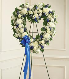 Falling Skies of Mist Sympathy Wreath