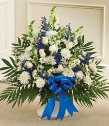 Over the Sky Blue Sympathy Basket