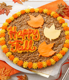 HAPPY FALL COOKIE CAKE