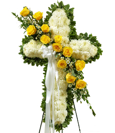 Cross my Heart Sunshine Sympathy Wreath