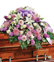Lilac Mist Casket Spray