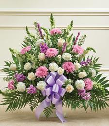 Precious Lilac Mists Sympathy Basket
