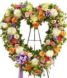 An Open Heart of Love Sympathy Wreath