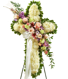 Cross of Faith Sympathy Wreath