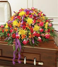 Bright Moments for Eternity Casket Spray