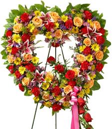 Open My Heart Sympathy Wreath