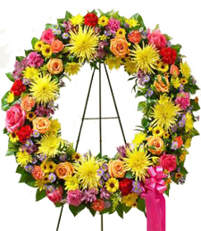 Springtime Melodies Sympathy Wreath