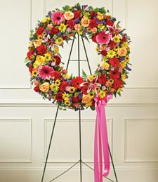 Rainbow of Love Sympathy Wreath