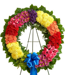Rainbows of Heaven Sympathy Wreath