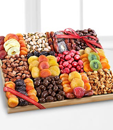 Season's Snacks Holiday Dried Fruit, Nuts & Sweets Tray -Best