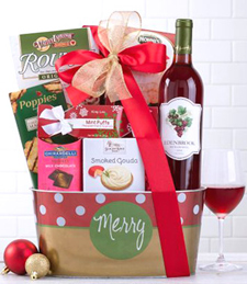 Edenbrook White Zinfandel Holiday Assortment Gift Basket