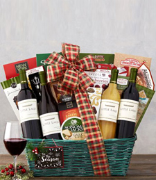 Little Lakes Cellars Holiday Quartet Gift Basket
