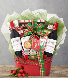 Vintners Path Red Wine Holiday Selection Gift Basket