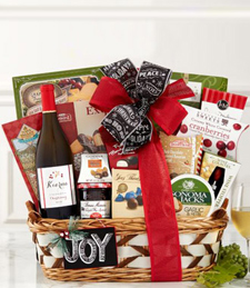 Kiarna Vineyards Chardonnay Season's Greeting Gift Basket