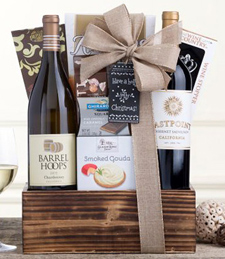 Eastpoint Cabernet and Barrel Hoops Chardonnay Gift Basket