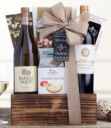 Eastpoint Cabernet and Barrel Hoops Chardonnay Gift Basket