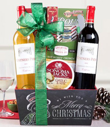 Red and White Christmas Duet Gift Basket