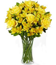 Citrus Burst Bouquet with Vase