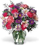 Mini Vase with Pinks & Purples