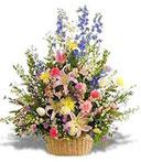 Large Pastel Flower Basket