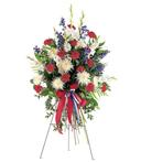 Patriotic Stance Funeral Spray